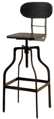 Benzara Industrial Swivel Bar Stool