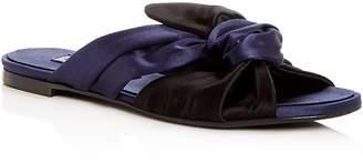 Oscar de la Renta Women's Piper Knotted Satin Slide Sandals
