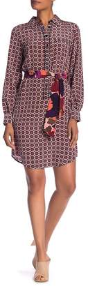 Trina Turk Keleigh Front Button Print Dress
