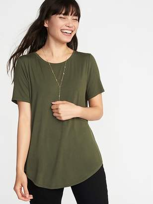 Old Navy Relaxed Luxe Crew-Neck Tee for Women