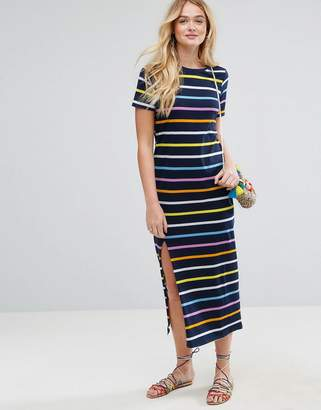 ASOS T-Shirt Maxi In Rainbow Stripe $40 thestylecure.com