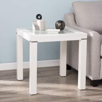 Southern Enterprises Boley White Parsons End Table, Contemporary, White