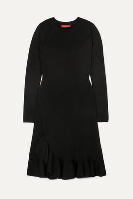 Altuzarra Mikey Asymmetric Ruffled Stretch-knit Mini Dress