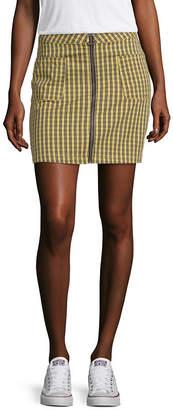 Arizona Womens Low Rise Short Denim Skirt-Juniors