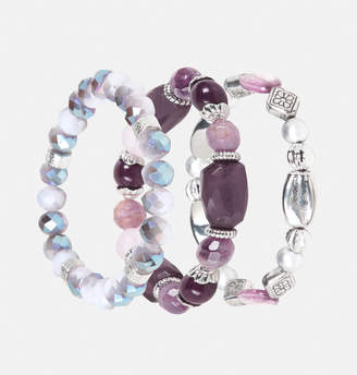 Avenue Purple Bead Bracelet Set