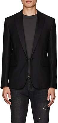 DSQUARED2 Men's Wool-Silk Piqué Sportcoat - Black Size 50 Eu