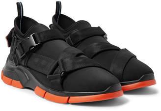 Prada Xy Webbing-Trimmed Neoprene Sneakers