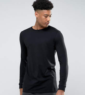 Asos Design TALL Longline Long Sleeve T-Shirt With Crew Neck