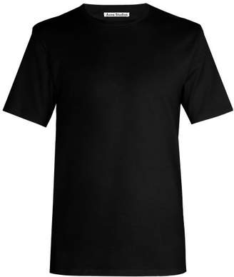 Acne Studios Measure Crew Neck Cotton T Shirt - Mens - Black