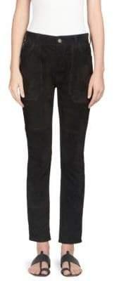 Saint Laurent Suede Worker Jeans