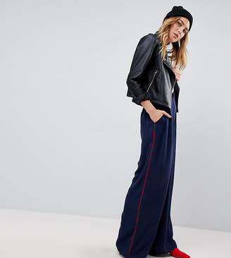 Asos Tall TALL Woven Contrast Piped Track Pant