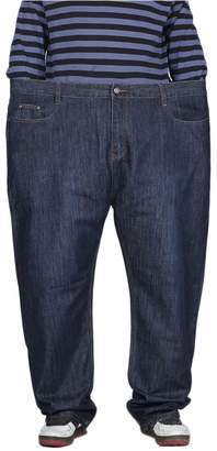 de4ce533ac1 Men Plus Allonly Casual Relax Fit Straight Leg Stretch Jeans for Size Big  and Tall