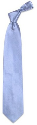 Forzieri Shimmering Solid Sky Blue Textured Silk Tie