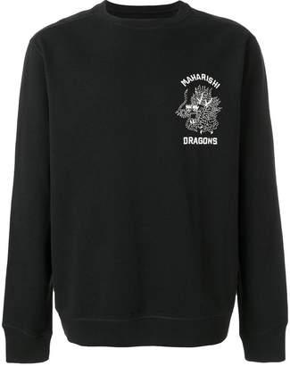 MHI dragon-embroidered sweatshirt
