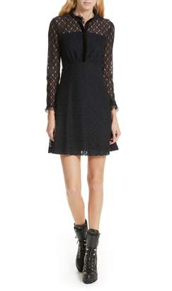 Sandro Lace Overlay Mini Dress