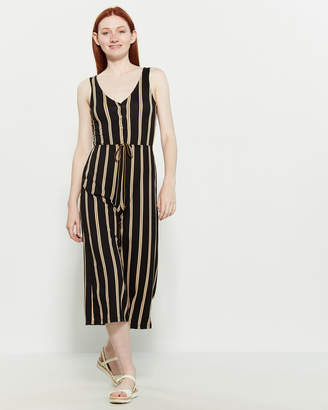Polly & Esther Striped Jersey Jumpsuit