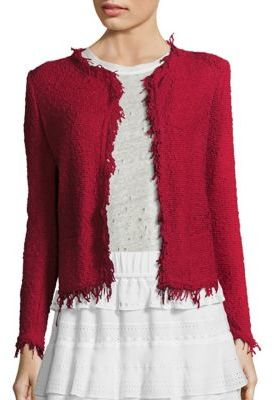 IRO Shavani Fringe-Trimmed Jacket $380 thestylecure.com