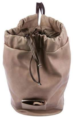 Brunello Cucinelli Leather Drawstring Backpack