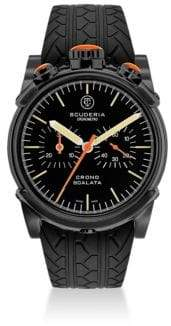 CT Scuderia Red Zone Ion-Plated Stainless Steel& Rubber Strap Watch