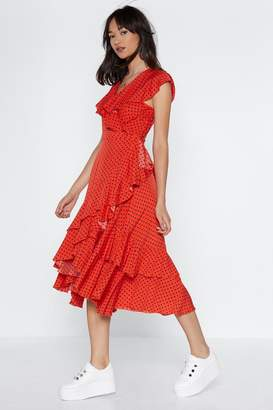 Nasty Gal And That's a Wrap Polka Dot Dress