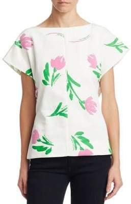 Rosie Assoulin Floral-Print Top
