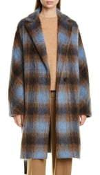 Vince Plaid Belted Wool & Alpaca Blend Coat