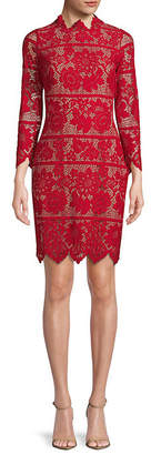 For Love & Lemons Rosetta Lace Sheath Dress