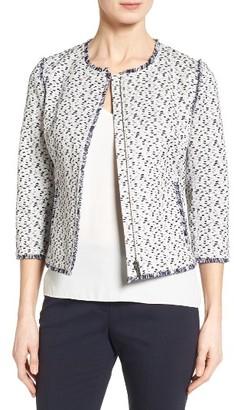 Women's Classiques Entier Fringe Tweed Jacket $329 thestylecure.com