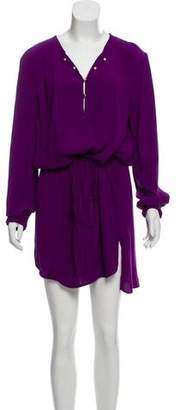 Diane von Furstenberg Sliced Long Sleeve Dress