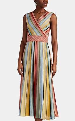 Missoni Women's Metallic Striped Rib-Knit Midi-Dress - Pink