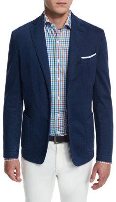 Peter Millar Glacier Skyline Soft Cotton-Blend Sport Coat $698 thestylecure.com