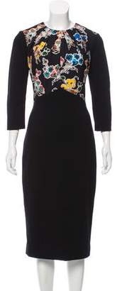 Jason Wu Long Sleeve Midi Dress
