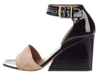 Acne Studios Patent Leather Wedge Sandals