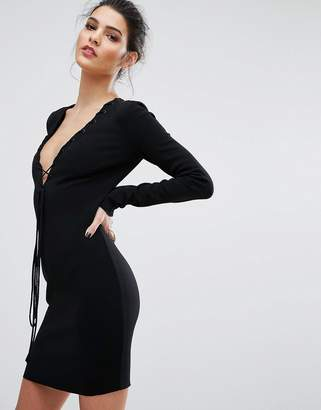 Bec & Bridge Warriors Keeper Long Sleeve Plunge Dress