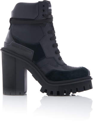 Dolce & Gabbana Leather Platform Ankle Boots