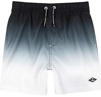 River Island Boys Black dip dye swim shorts