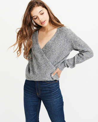 Abercrombie & Fitch Wrap-Front Sweater