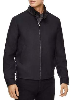Sandro Icon Leather-Collar Jacket