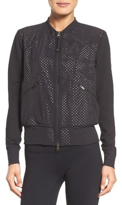 Women's Zella To The Max Mesh Bomber $119 thestylecure.com