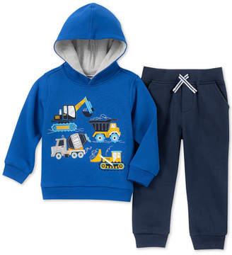 Kids Headquarters Baby Boys 2-Pc. Construction Hoodie & Jogger Pants Set