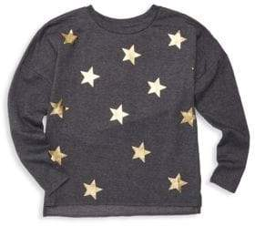 Pinc Premium Girl's Metallic Star Graphic T-Shirt