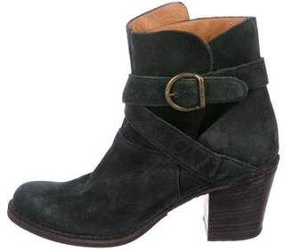 Florentini + Baker Suede Round-Toe Ankle Boots