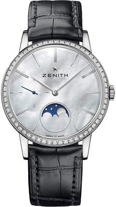 Zenith 16232069280C714 Elite mother-of-pearl moonphase watch