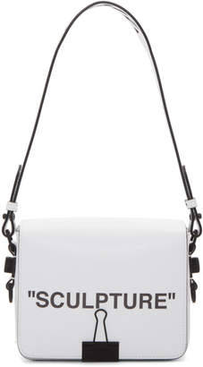 Off-White White Sculpture Binder Clip Bag