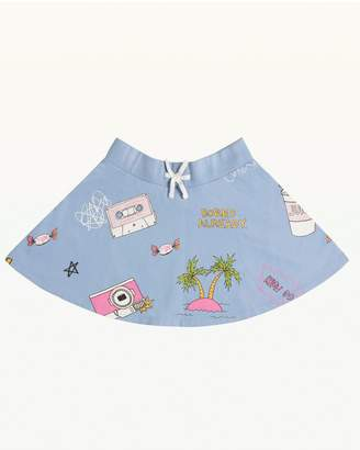 Juicy Couture Beach Doodle Fleece Skirt for Girls