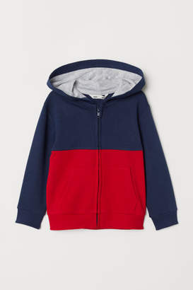 H&M Hooded Sweatshirt Jacket - Red