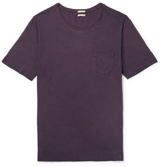 Massimo Alba Panarea Slim-fit Watercolour-dyed Cotton-jersey T-shirt - Purple