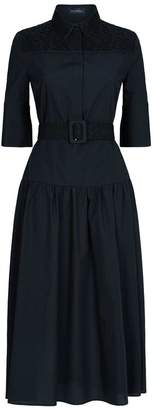Piazza Sempione Lace Trim Shirt Dress
