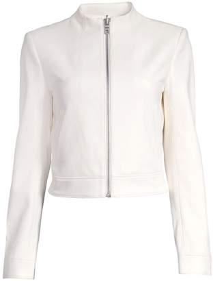 Alice + Olivia Yardley Mockneck Leather Jacket
