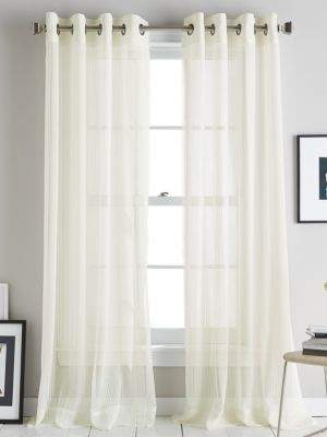DKNY Soho Stripe Grommet Curtain Panel 63in